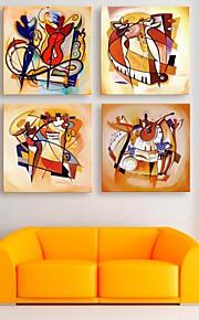e-FOYER toile tendue es l'ensemble des 4 joueurs de peinture décoration