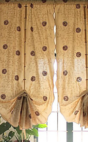 "One Panel  31""WX66""L(80cmWx170cmL) Floral / Botanical Coffee Daisy Embroidered    Poly /Cotton Blend Sheer"
