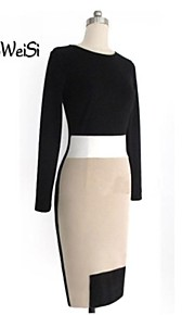 Women's Work Dress Mini Long Sleeve Spring / Summer / Fall / Winter