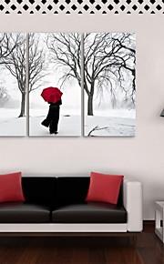 e-FOYER étiré sur toile retour peinture décoration ensemble de trois