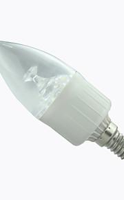 1 stk. 8A Lighting E14 3 W 15 SMD 2835 300 LM Varm hvit/Kjølig hvit A Dekorativ Lysestakepære AC 85-265 V