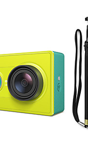 Xiaomi Xiaoyi 1080p 16MP CMOS sport kamera / monopod / Wi-Fi / bluetooth v4.0 - grøn (rejse kit)