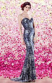 TS кутюр формальное вечернее платье - оболочка / колонки возлюбленной развертки / щетка поезд блестками