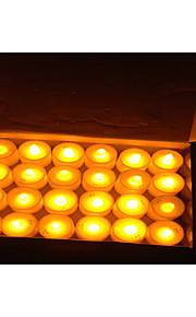 24pcs scintillement scintillement flamme conduit bougies chauffe-plat lumière de batterie pour le mariage décoration de fête d'anniversaire