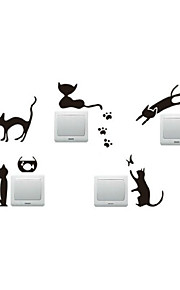 Wall Stickers Wall Decals, Kitty Paw Print Mouse Switch PVC Wall Stickers