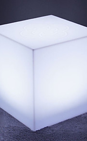 mesa de iluminação cubo plástico, clube mesa de vidro, mesa Costco