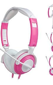 Hovedtelefoner - Høretelefoner (Pandebånd) - Med Mikrofon/Lydstyrke Kontrol/Gaming - Medie Player/Tablet/Computer