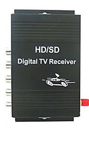 bil digital tv ATSC-mh tuner modtagerboks med 4-video udgang for USA med fjernbetjening controlblack