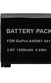1200mAh batería de la cámara para GoPro AHDBT-401