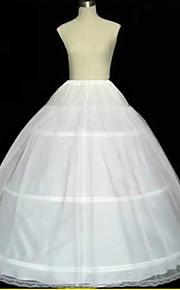 Déshabillés Robe trapèze Robe de soirée longue Chapelle Ras du Sol 2 Filet de tulle Blanc