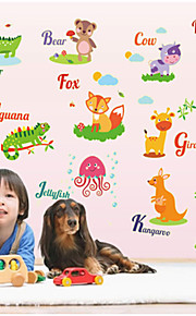 stickers muraux stickers muraux, animaux fluorescentes sticker muraux PVC autocollants