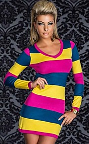 Clubwear Dresses Women's Performance / Training Polyester Tie Dye 2 Pieces Blue / Red / White / Yellow