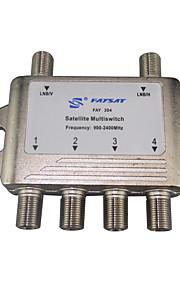 2 i 4 ud satellitter multiswitch fay204 DiSEqC FTA tv LNB skifte kaskade satellit- og for satellit-fladskærms parabol
