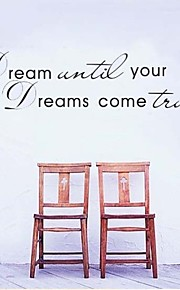 Dream Until Your Dreams Come True Quote Wall Decals ZY8009 Adesivo De Parede Removable Vinyl Wall Stickers