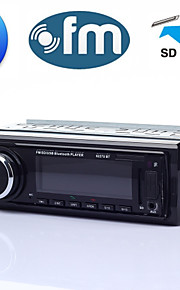 Car Audio Stereo FM Radio Receiver MP3 Player with Front AUX Input, USB Port and SD Card Slot, LED Display