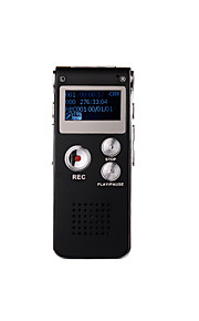 8gb 609 digitale opname professionele audio voice recorder dictafoon externe microfoon 650hr mp3-speler usb digitale audio