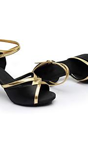 Sapatos de Dança(Preto / Azul / Marrom / Vermelho) -Feminino-Personalizável-Latina / Tênis de Dança