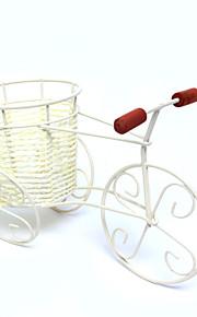 Rattan sykkel blomstervase kurv godteri beholdere for hjemmemidtbordet dekorasjon bord deocrations