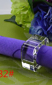6pcs servilletero cristal tetragonal