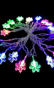 2W 4 Meter Außendurchmesser 20pcs Lampe LED-Modellierung Zeichenfolge Beleuchtung kleine Schneeflocke Lichter, RGB-Farb