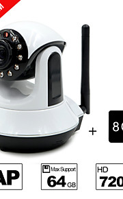besteye® 8GB TF-kaart en HD720p h.264 p2p wifi ip camera 1.0m pixels PTZ ir nachtzicht bedrade of wirless camera wifi