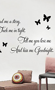 Wall Stickers Wall Decals, Read Me English Words & Quotes PVC Wall Stickers