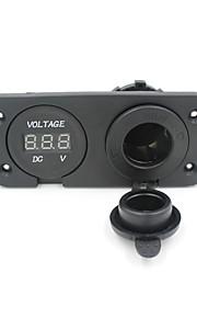 12v motor sigarettenaansteker stopcontact stekker voltmeter socket