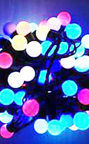 6W 5 Meter Außendurchmesser 50pcs Lampe LED-Modellierung Lichterketten kleine Kugel-Leuchten, RGB-Farb