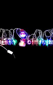 2W 4 Meter Außendurchmesser 20pcs Lampe LED-Modellierung Schnurbeleuchtung Frohe Weihnachten und Weihnachtsmann-Beleuchtung, RGB-Farb