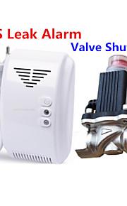 alarme du détecteur de fuite de gaz naturel GPL avec solénoïde électromagnétique DN15 vanne d'arrêt automatique