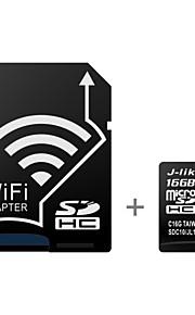 j-lignende trådløse wifi 16gb klasse 10 UHS-1 microSDHC-hukommelseskort med SD adapter