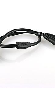beveiliging 1 in 2 cctv 2-weg power supply splitter kabel voor CCTV-systeem