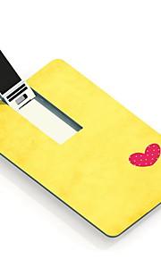 64GB hjertet design kortet usb-flashdrev