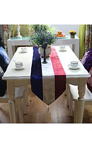 """europæisk stil af høj kvalitet luksuriøse velour tricolor bordløber (13 """"x79"""")"""