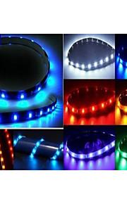 30cm zachte strips van licht blauw / rood / groen / geel / wit, auto-chassis lichten, tussenliggende rooster autolichten
