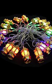 2W 4 Meter Außendurchmesser 20pcs Lampe LED-Modellierung Schnurbeleuchtung goldenen Laternen Lichter, RGB-Farb