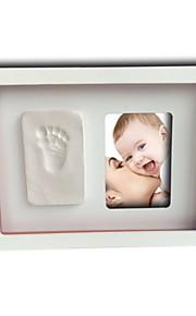 bebê novo memorial impressões DIY mão caixa de quadro série set