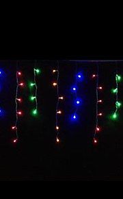 4W 3 Meter lange 100pcs LED-String-Licht mit AC110-220V Eingang PVC transparent, rot / grün / blau / gelb Farbe