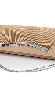 Handbag Silk Evening Handbags/Bridal Purse With Crystal/ Rhinestone