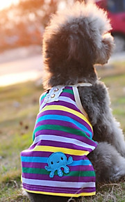 Azul - Boda/Cosplay - Algodón - Camiseta - Perros/Gatos -