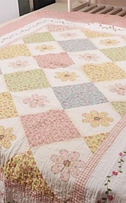 pink bomuld twin quilt
