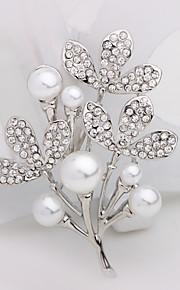 Licht Metaal Dames Broche Zilver