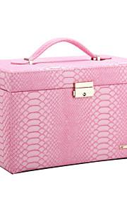 affichage de stockage du cabinet vintage boîte à bijoux classique moderne bricolage cadeaux organisateur zg091news en cuir PU