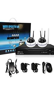 Babykamer/Voordeur/Garage - Kantoor/Winkel/Pakhuis/School/Straat - Dome camera's - CCTV DRV KIT ( 4 Kanaals , 1 Kanaals )