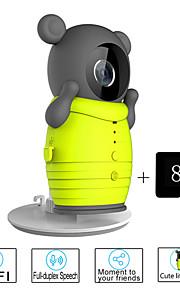 besteye® 8GB TF-kaart en schattig draadloze wifi camera met ir nachtzicht IP-surveillance draadloze camera