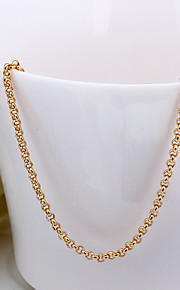 Fashion Snake Shape White Gold Plated Copper Alloy Rolo Chain Necklace(Gold,Rose Gold,White Gold)(1Pc)