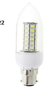 b22 / e27 LED 7W 56x5730 cms 700lm lampe ampoule chaude lumière blanche / blanc clair bougie de couverture (AC 220V ~ 240V)