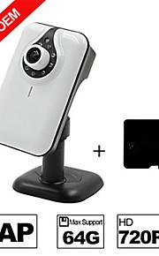 besteye® h.264 wifi ip camera HD 720p 1.0m pixels ir nachtzicht bedrade of draadloze camera met SD-kaart