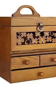 millésime boîte à bijoux en bois moderne avec la boîte d'affichage de cadeau les mg003 de l'organiseur d'armoire armoire anneau