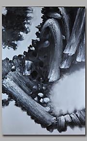 met de hand geschilderd olieverf op doek kunst aan de muur abstracte zwart wit paneel klaar te hangen